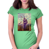 Sloth King Kong Funny Womens Fitted T-Shirt