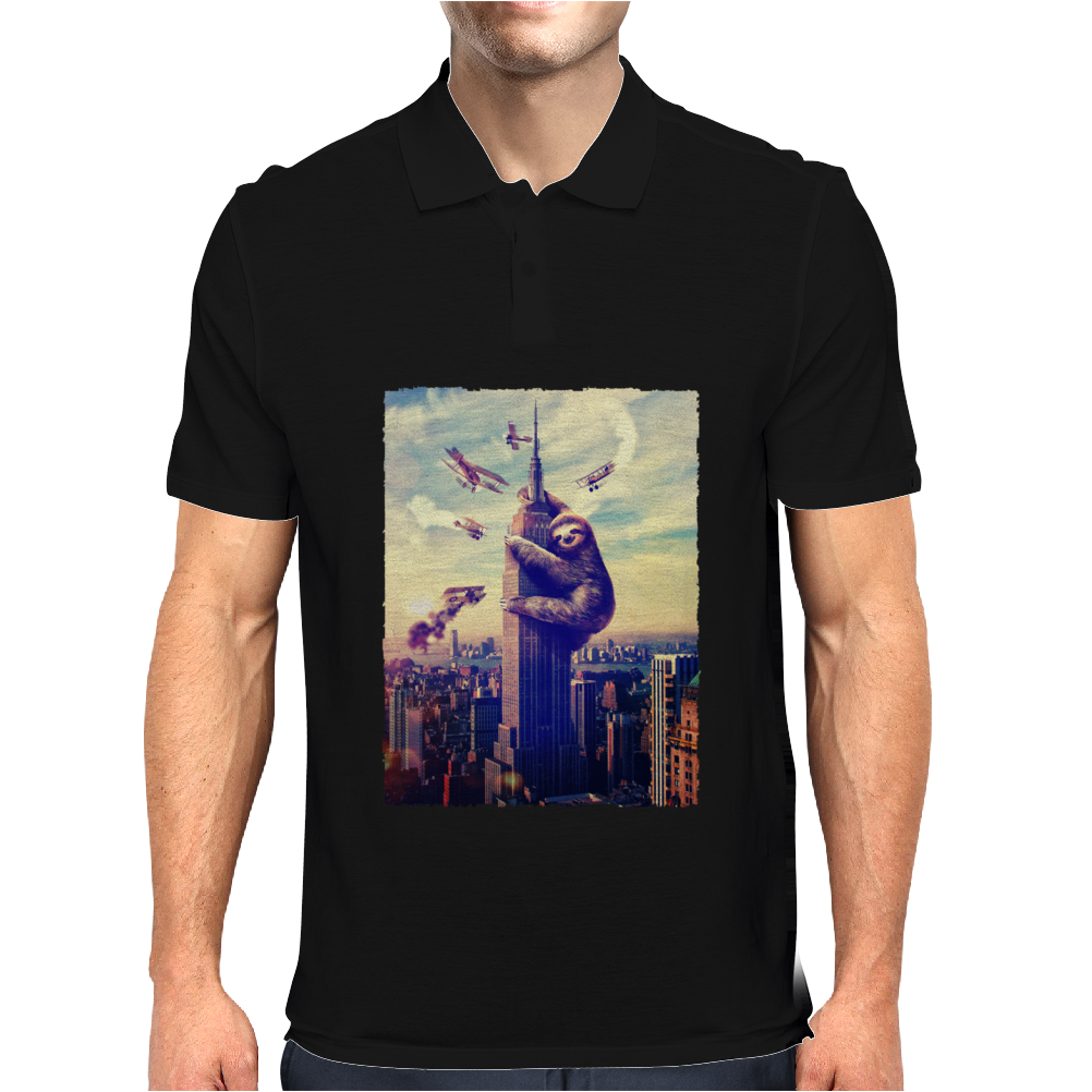 Sloth King Kong Mens Polo