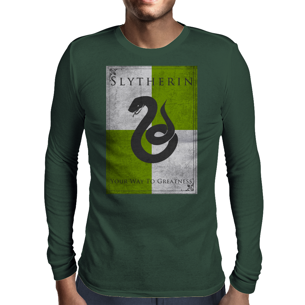 Slytherin Game of Thrones Banner Mens Long Sleeve T-Shirt