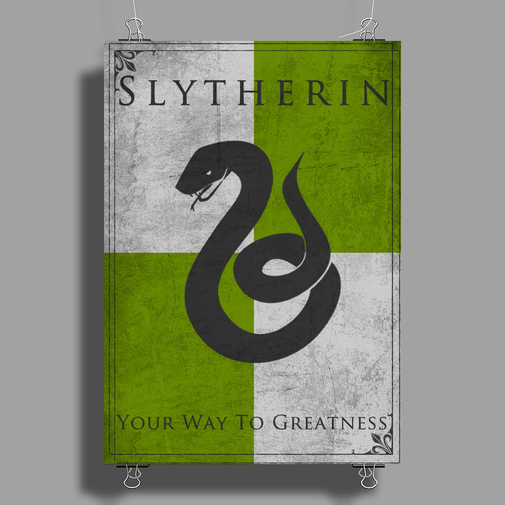 Slytherin Game of Thrones Banner Poster Print (Portrait)