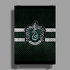Slytherin Knitted Poster Print (Portrait)