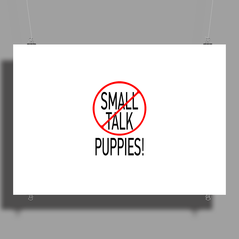 SMALL TALK PUPPIES! Poster Print (Landscape)