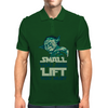 Small you are Lift you must Mens Polo