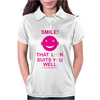 Smile That Look Suits You Well . Womens Polo