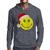 Smiley Face Wears Santa Hat Merry Christmas Mens Hoodie