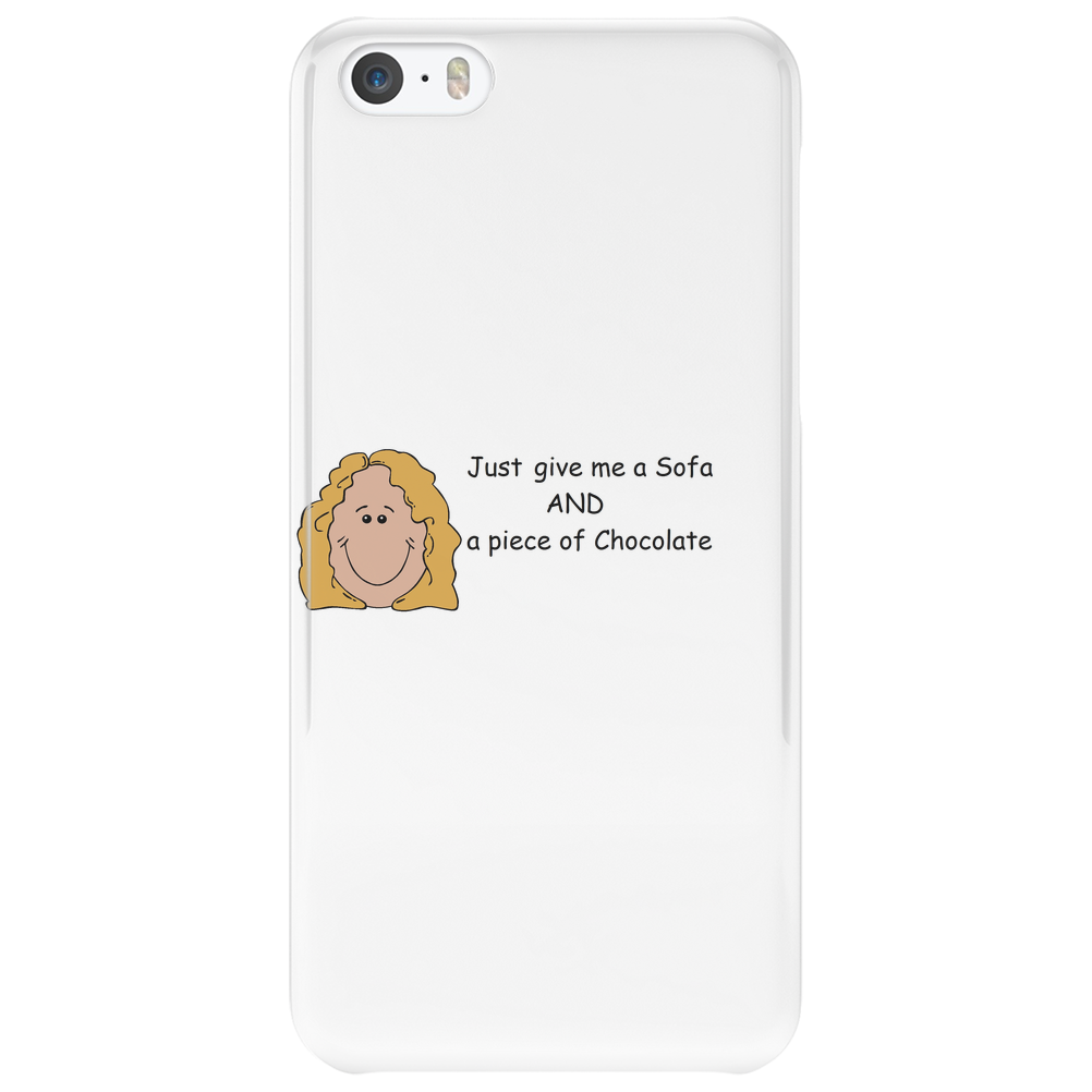 Smiley Lady - Chocolate Lover  Phone Case