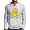 Smiley Pirate Skull and Crossbones Mens Hoodie