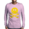 Smiley Pirate Skull and Crossbones Mens Long Sleeve T-Shirt
