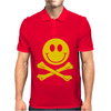 Smiley Pirate Skull and Crossbones Mens Polo