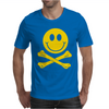 Smiley Pirate Skull and Crossbones Mens T-Shirt