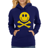 Smiley Pirate Skull and Crossbones Womens Hoodie