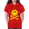 Smiley Pirate Skull and Crossbones Womens Polo