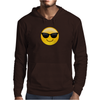 Smiling Face With Sunglasses Cool Emoji Mens Hoodie