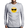 Smiling Face With Sunglasses Cool Emoji Mens Long Sleeve T-Shirt