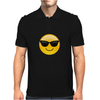 Smiling Face With Sunglasses Cool Emoji Mens Polo