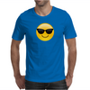 Smiling Face With Sunglasses Cool Emoji Mens T-Shirt