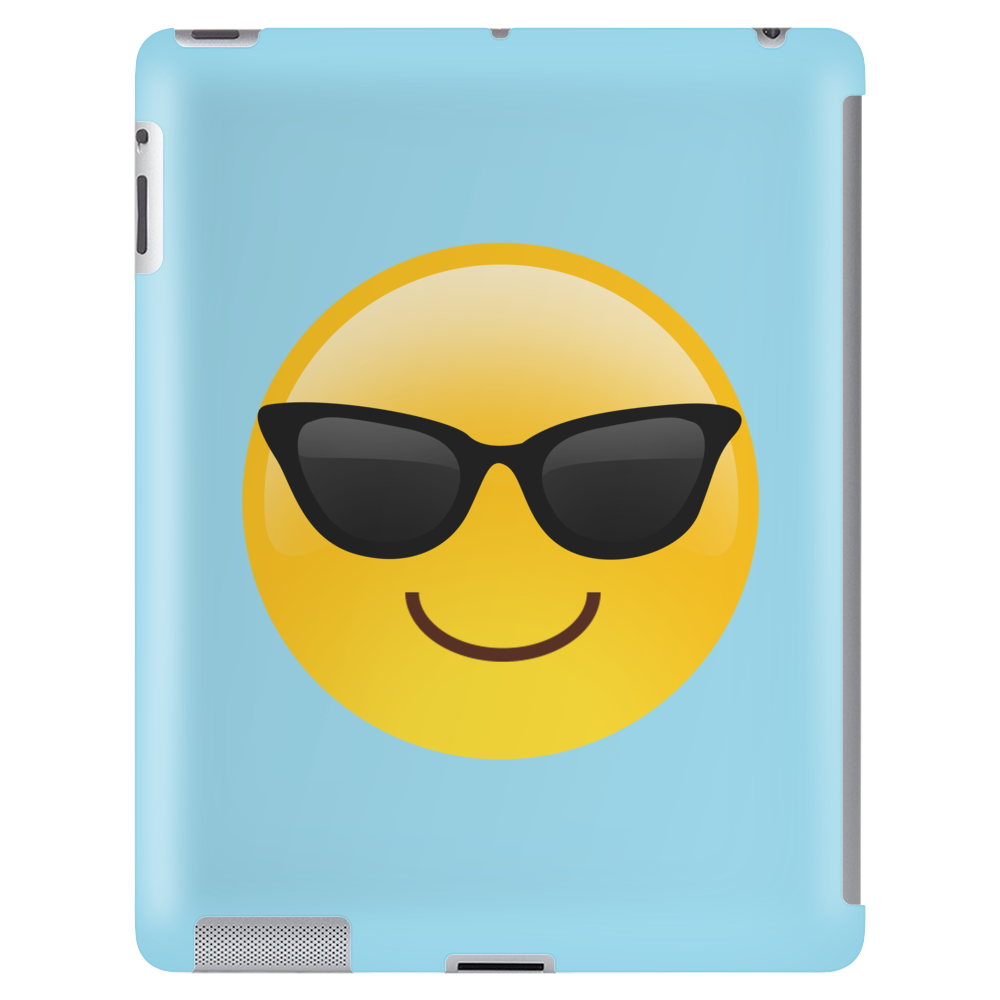 Smiling Face With Sunglasses Cool Emoji Tablet