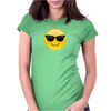 Smiling Face With Sunglasses Cool Emoji Womens Fitted T-Shirt