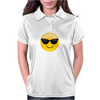 Smiling Face With Sunglasses Cool Emoji Womens Polo