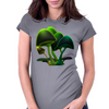 smiling mushrooms Womens Fitted T-Shirt