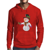 Smiling Snowman Holding Out Christmas Mens Hoodie