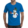 Smiling Snowman Holding Out Christmas Mens T-Shirt