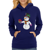 Smiling Snowman Holding Out Christmas Womens Hoodie