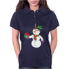 Smiling Snowman Holding Out Christmas Womens Polo