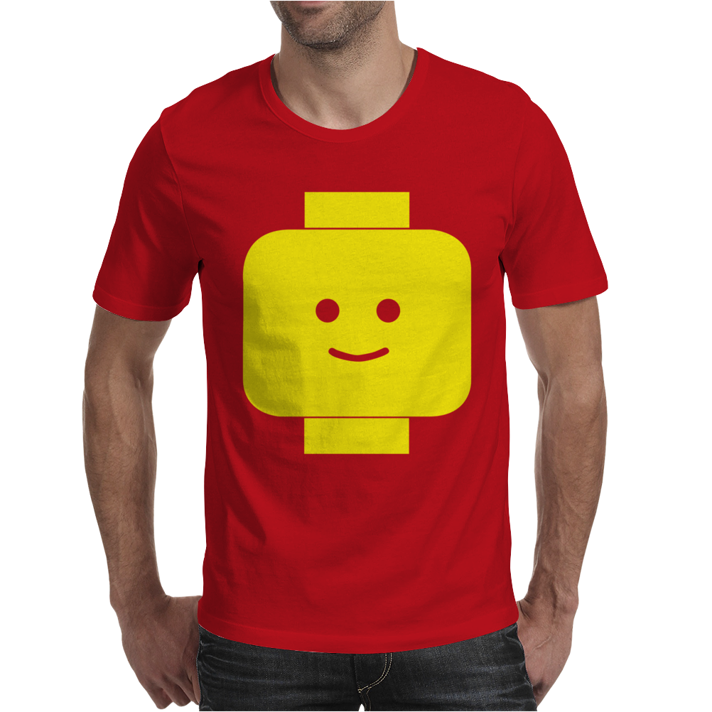 Smily Face Expression Lego Head Mens T-Shirt