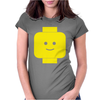 Smily Face Expression Lego Head Womens Fitted T-Shirt