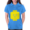 Smily Face Expression Lego Head Womens Polo