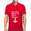 SMOKE METH & HAIL SATAN. Mens Polo