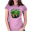 smokes pot Womens Fitted T-Shirt