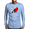 Smoking Cardinal Mens Long Sleeve T-Shirt
