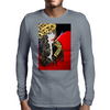 SMOKING GIRL  FAKE FUR Mens Long Sleeve T-Shirt