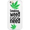 Smoking weed Phone Case