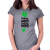 Smoking weed Womens Fitted T-Shirt