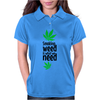 Smoking weed Womens Polo