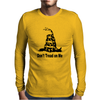 SNAKE LARGE DON'T TREAD ON ME Mens Long Sleeve T-Shirt