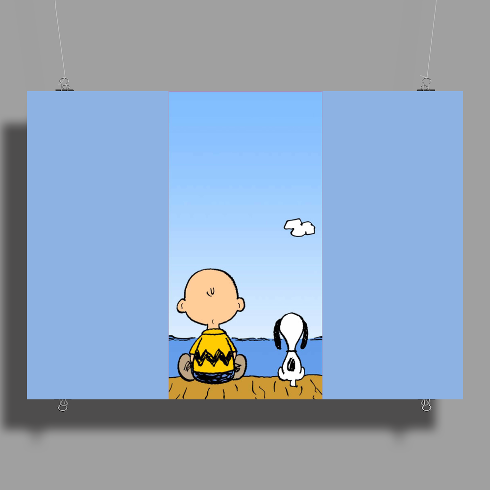 Snoopy And Charlie Brown Poster Print (Landscape)
