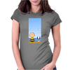 Snoopy And Charlie Brown Womens Fitted T-Shirt