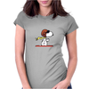 snoopy funny tears Womens Fitted T-Shirt