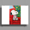 Snoopy slow time Poster Print (Landscape)