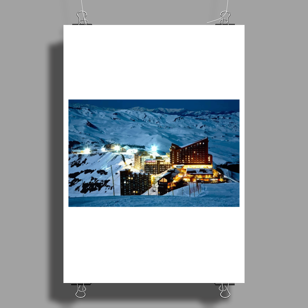 snow mountain Poster Print (Portrait)