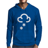 Snow Weather Symbol Mens Hoodie