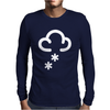 Snow Weather Symbol Mens Long Sleeve T-Shirt