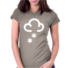 Snow Weather Symbol Womens Fitted T-Shirt
