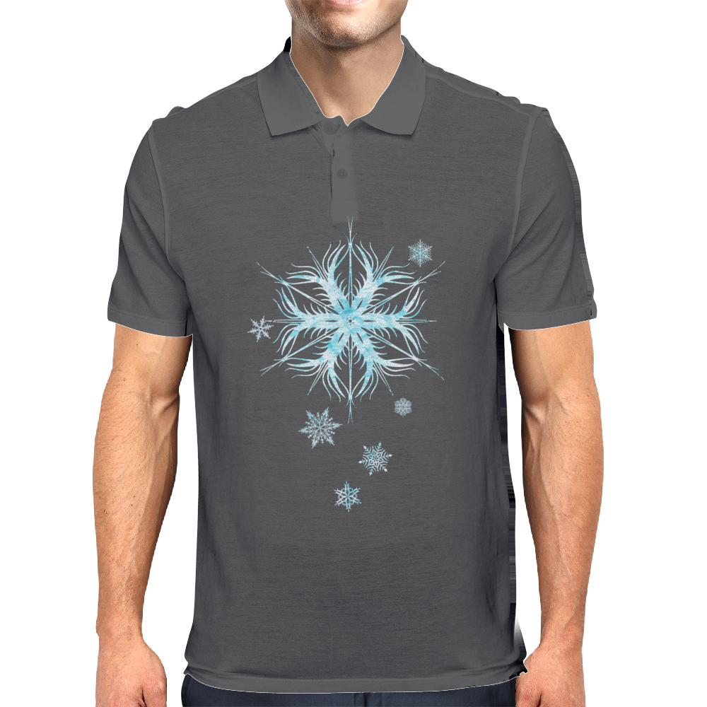 Snowflakes Mens Polo