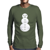 Snowman Hip Hop Rap Gangster Mens Long Sleeve T-Shirt