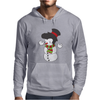 Snowman With Elvis Presley Type Quiff Hair Smiling Christmas Mens Hoodie